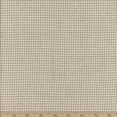 Seersucker Check Cotton Fabric - Khaki