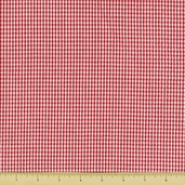 Seersucker Check Cotton Fabric - Red CXS-2902-4