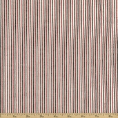 Seersucker Check Stripe Cotton Fabric - Red