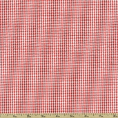 Seersucker Stripe Check Cotton Blend Fabric - Coral