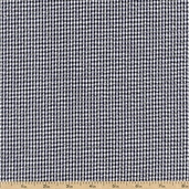 Seersucker Stripe Check Cotton Blend Fabric - Midnight