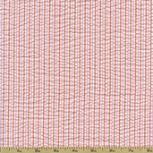 Seersucker Stripe Check Cotton Blend Fabric - Sorbet