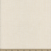 Seersucker Stripe Check Cotton Fabric - Straw White CXS-2902-161
