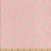 Seersucker Stripe Cotton Fabric - Coral