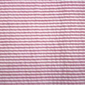 Seersucker Stripe Cotton Fabric - Hot Pink