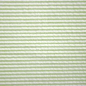 Seersucker Stripe Cotton Fabric - Lime