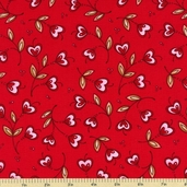 Sending My Love Cotton Fabric - Red 5963-88