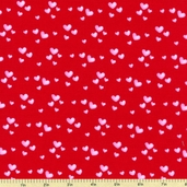 Sending My Love Cotton Fabric - Red 5966-88