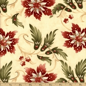 Sentiments Cotton Fabric - Beige 4082-11