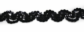 Sequin Braid Trim - Black - Clearance