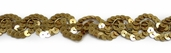 Sequin Braid Trim - Gold -CLEARANCE