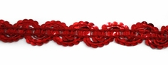 Sequin Braid Trim - Red - Clearance