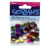 Sequins 10mm - Multicolor - Pkg of 6