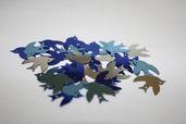 Sequins Birds - royal / light Blue / Silver - Clearance Pkg of 6