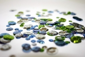 Sequins Variety Pack - lime / light Blue / Silver - Clearance Pkg of 6