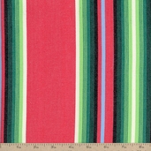 Serape Stripes Deluxe Cotton Fabric - Red