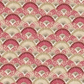 Serenity Cotton Fabric - Red