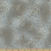 Serenity Floral Cotton Fabric - Grey