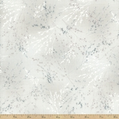 Serenity Floral Cotton Fabric - Light Grey