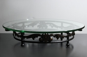 Serving Platter 21.5in Round - Glass And Metal