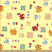 Sesame Beginnings Cotton Fabric Flannel - Yellow 2804-15224-YEL1