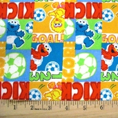 Sesame Street Flannel from Spectrix Fabrics - Multi