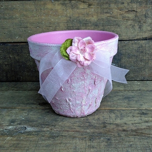 Shabby Chic Flower Pot