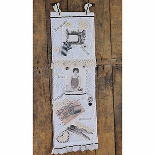Shabby Chic Stitched Wall Hanging