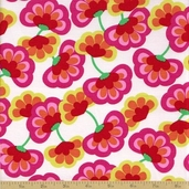 Shadow Flower Cotton Fabric - Bright Floral