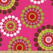 Shadow Flower Cotton Fabric - Multi Circle Dot