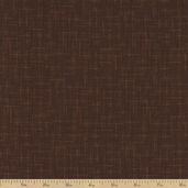 Shadow Weave Cotton Fabric - Brown