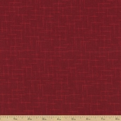 Shadow Weave Cotton Fabric - Red