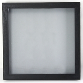 Shadowbox Visage Hinged - 12 x 12 inch - Black
