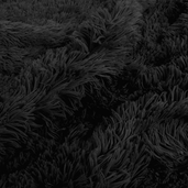 Shaggy Cuddle Fabric - Black