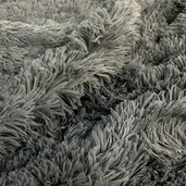 Shaggy Cuddle Fabric - Charcoal