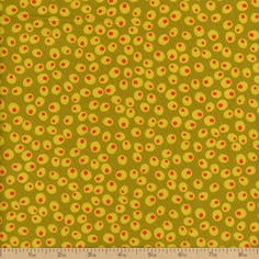 Shaken Or Stirred Olives Cotton Fabric - Olive