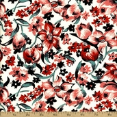 Shelburne Falls Dress Floral Cotton Fabric - Maple PWDS039