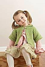 Short and Sweet Child's Cardigan by LionBrand�