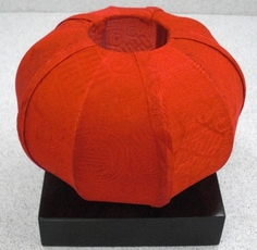 Silk Candle Holder - Red - Clearance