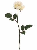 Silk Open Rose Spray 23 in Pkg of 12 - Vanilla - Clearance