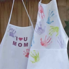 Silk Screen and Sponge Paint Apron w/ Video