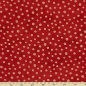 Simple Marks Cotton Fabric - Brick Red 23209-20