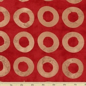 Simple Marks Cotton Fabric - Brick Red 23223-20