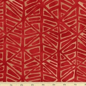 Simple Marks Cotton Fabric - Brick Red 23224-17