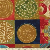 Simple Marks Cotton Fabric - Earth 23221-13