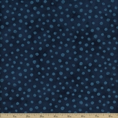 Simple Marks Cotton Fabric - Midnight 23209-25