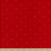 Simply Christmas Dots Cotton Fabric - Red