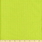 Simply Christmas Pin Dot Cotton Fabric - Green