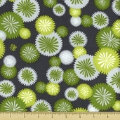 Simply Color Mod Floral Cotton Fabric - Gray 10803-13