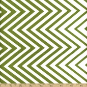 Simply Style Directional Chevron Cotton Fabric - Green